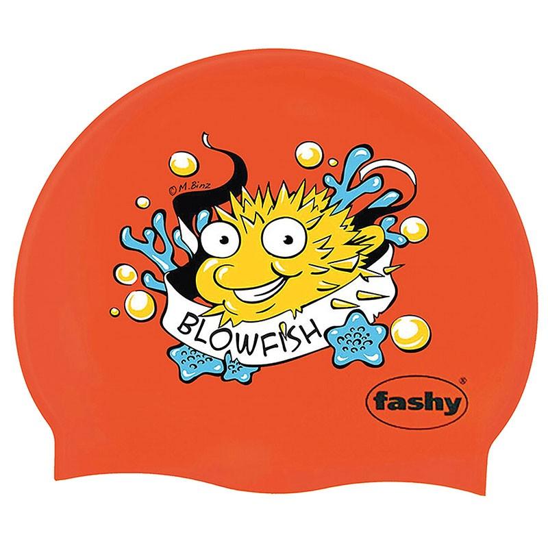 Купить Шапочка для плавания Fashy Silicone Cap Printed 3047-00-93 принт рыба-игла, красный,