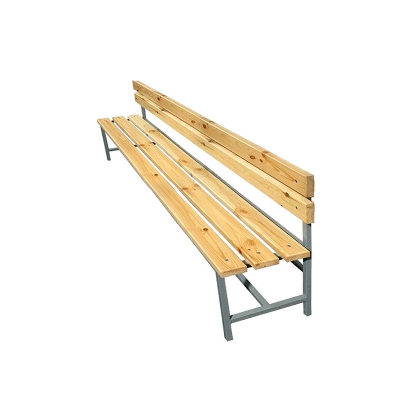 Купить Скамейка для раздевалки со спинкой 2000 мм сиденье из дерева Dinamika ZSO-002186,