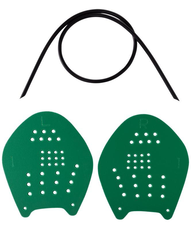 Купить Лопатки для плавания LongSail Target, зеленый, M,