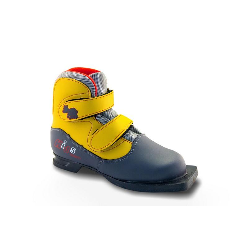 Ботинки лыжные NN75 Kids серо-желтые ботинки синтетические