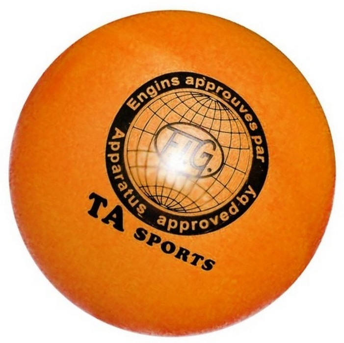 Купить Мяч для художественной гимнастики Indigo D=15 см оранжевый,