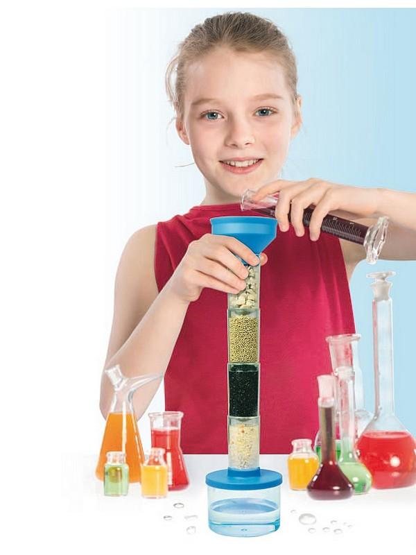 Набор для проведения опытов по очистке воды юный ученый Bradex DE 0120