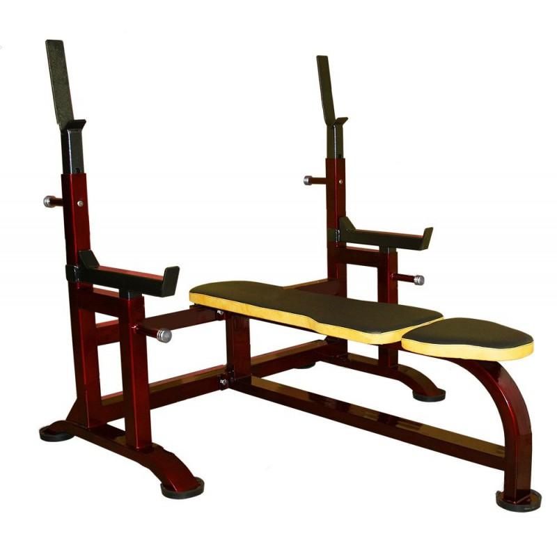 Купить Скамья для жима с упорами (усиленная) ProfiGym 2СК-0040-HР (Rubin),