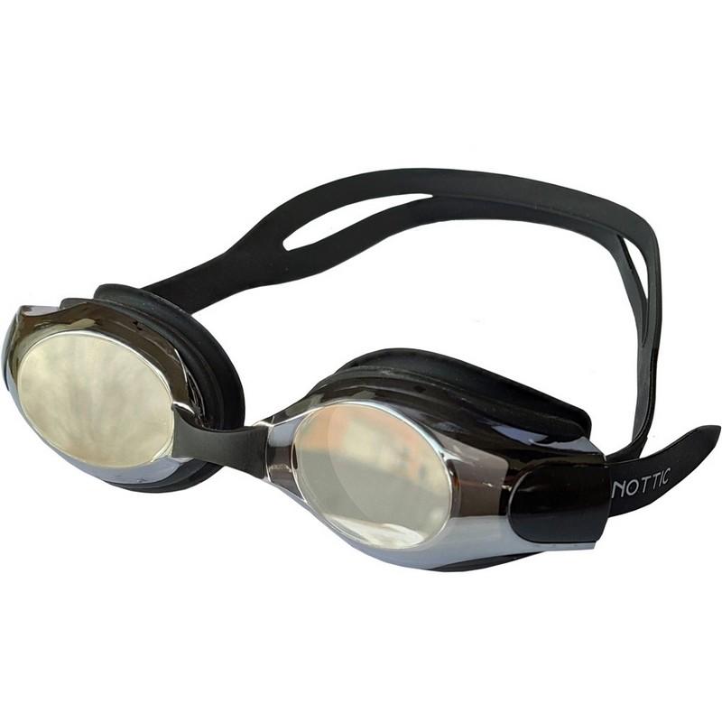 Купить Очки для плавания со сменной переносицей B31550-8 Черный, NoBrand