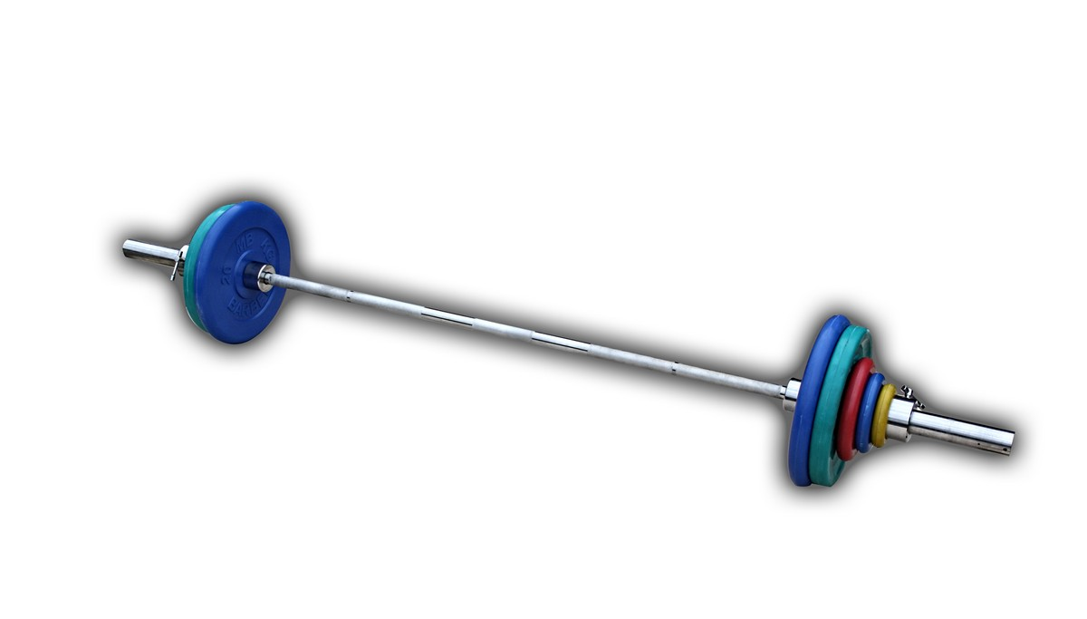 Штанга с грифом 2200*50мм, 102,5 кг в наборе, диски обрезиненные цветные ProfiGym ШТРц-102-50 osgona бра osgona alveare 702622