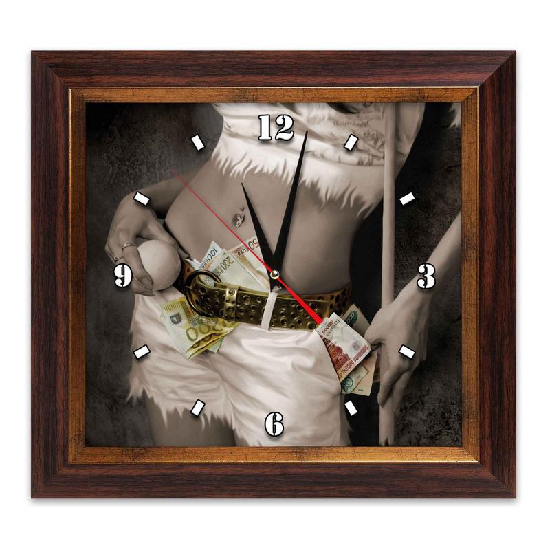 Часы AFG Бильярд AFG7814 38х41см