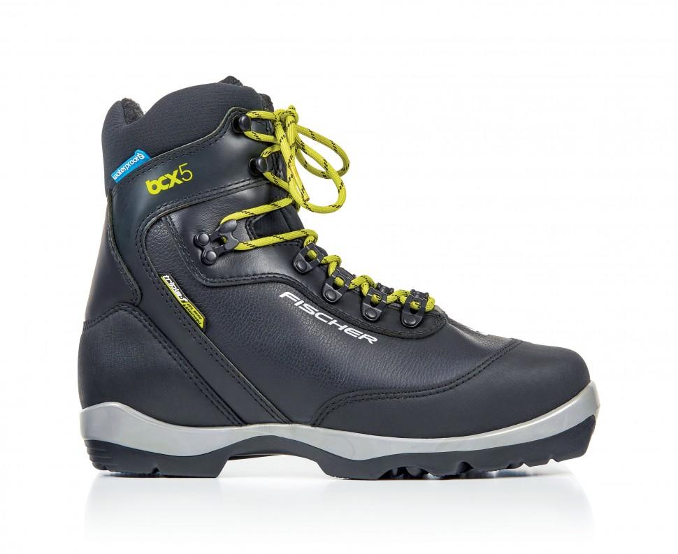 Купить Лыжные ботинки Fischer NNN BCX 5 waterproof (S38518) (черный/желтый),