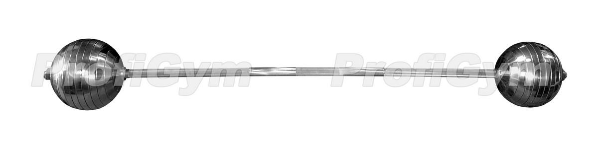 Штанга сферическая неразборная ProfiGym 90 кг в наборе ШС-090-K от Дом Спорта