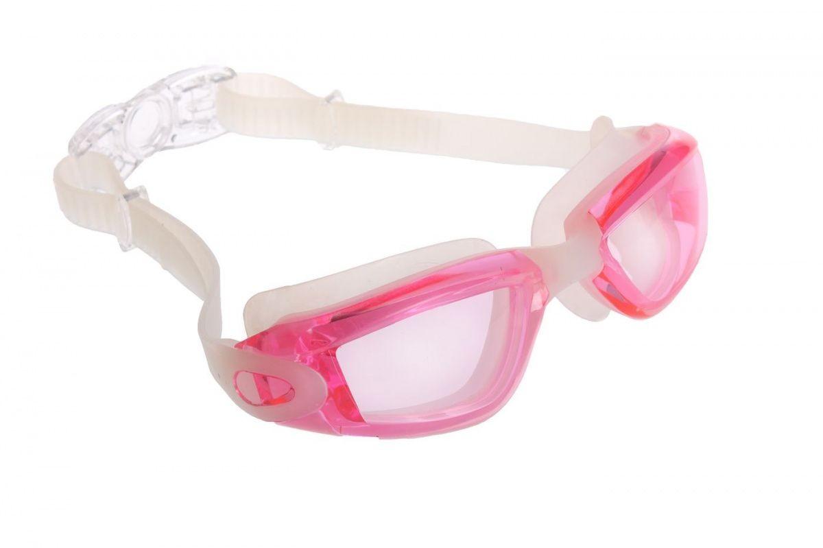 Купить Очки для плавания серия Комфорт+, розовые, цвет линзы - прозрачный SF 0391, NoBrand