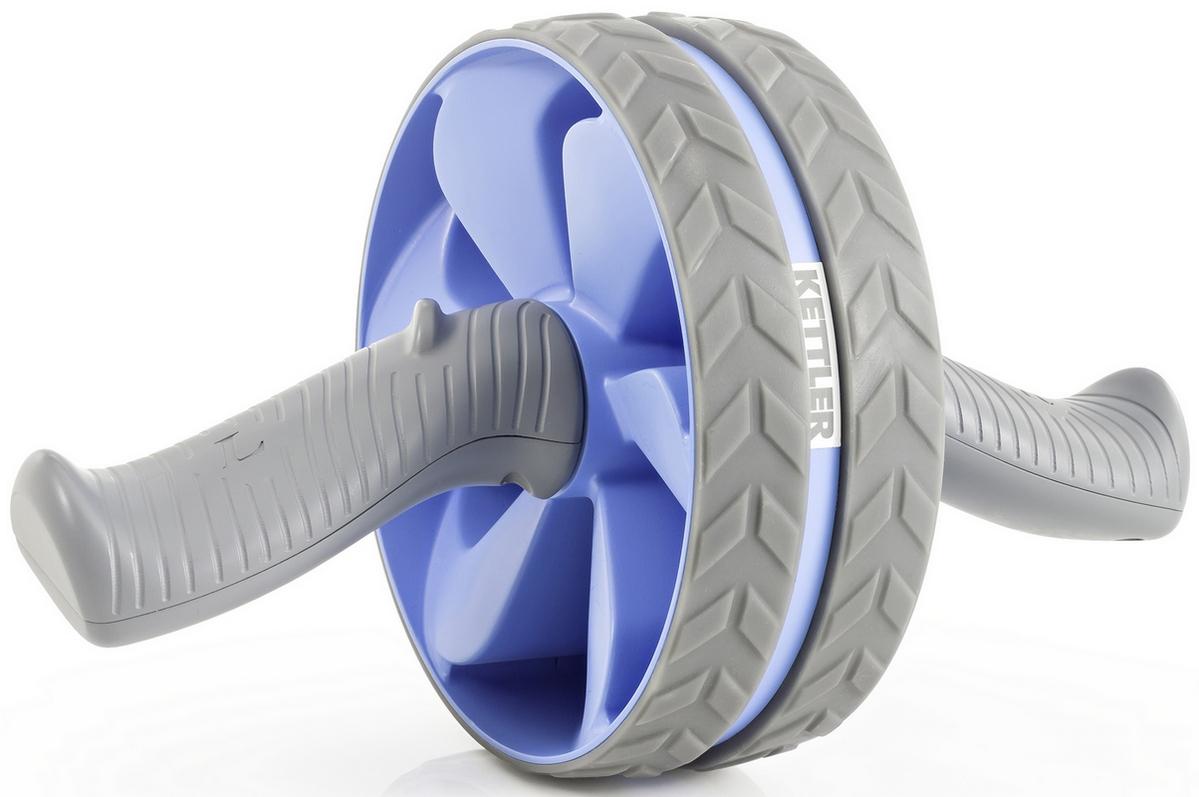 Ролик для пресса Kettler AB Weel Double-wheeled exercise голубой/серый