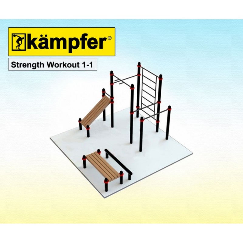 Воркаут площадка Kampfer Strength Workout 1-1 от Дом Спорта