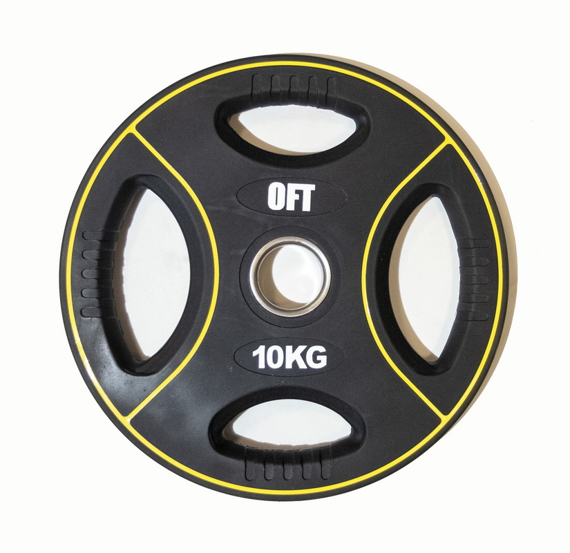 Диск для штанги олимпийский Original Fit.Tools полиуретановый 10 кг FT-DPU-10