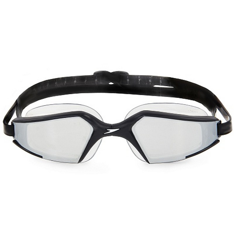 Очки для плавания Speedo Aquapulse Max Mirror черный/серебряный