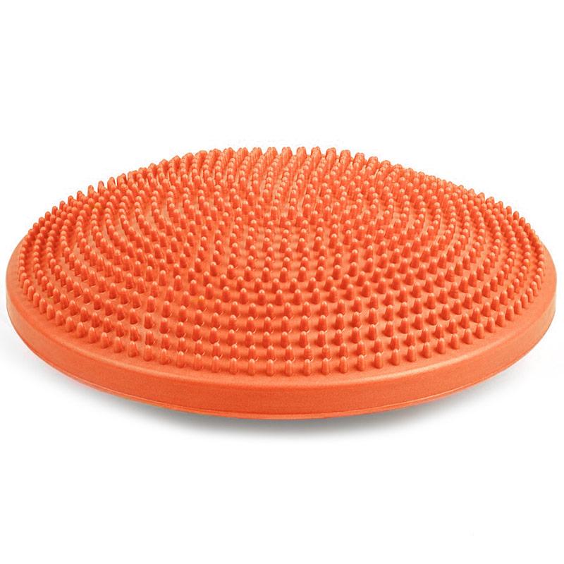 Купить Полусфера массажная овальная надувная (ПВХ) d-33см MSG300 оранжевая, NoBrand