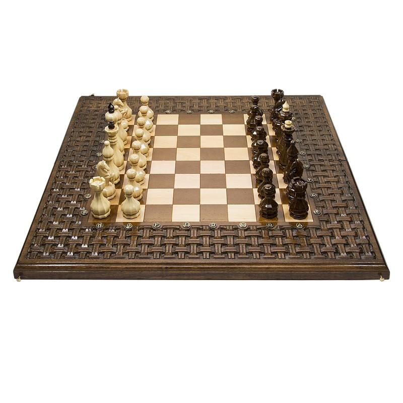 Шахматы + нарды Haleyan резные,  Армянский Орнамент 60 kh137-6