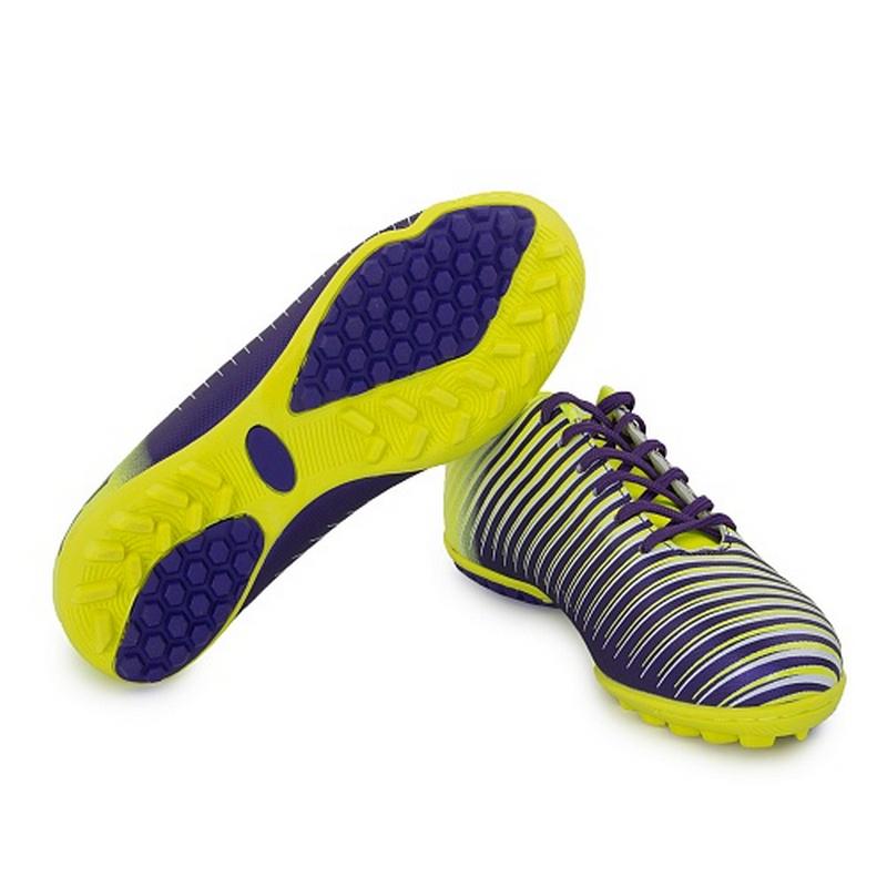 Бутсы футбольные AS4 Furia Turf 504A10 lime/violet (35-45) цена