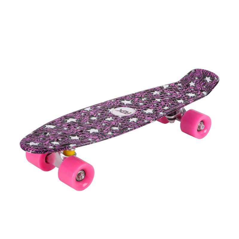 Мини-круизер RGX PNB-04 Purple скейт мини круизер penny original 22 glow galactic glow purple aqua 6 x 22 55 9 см