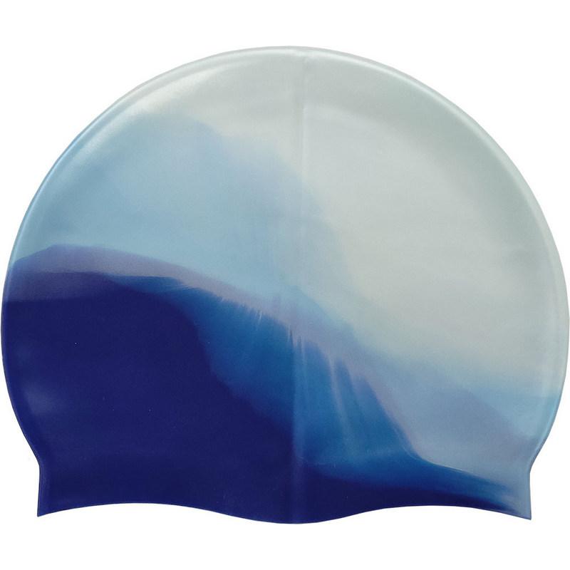 Купить Шапочка для плавания силиконовая B31518-6 (сине/голубой), NoBrand