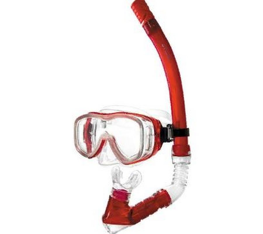 Набор для плавания Atemi (маска+трубка) Atemi (красный), 24104