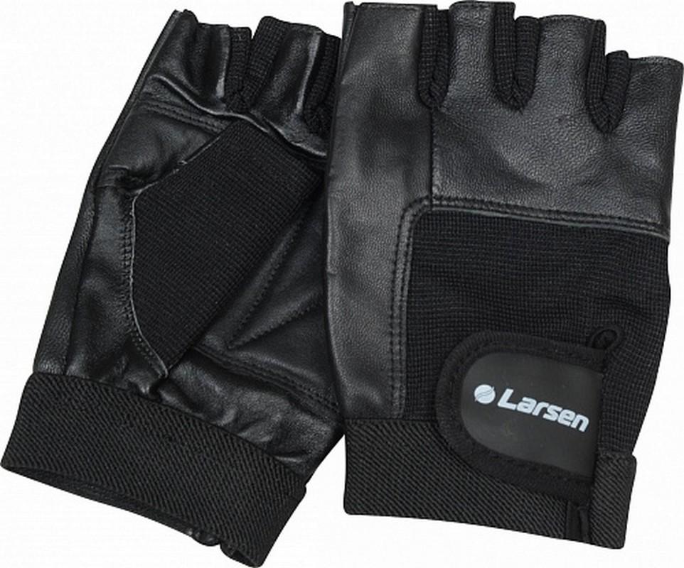 Перчатки для т/а и фитнесса Larsen (нат.кожа) NT506 черный