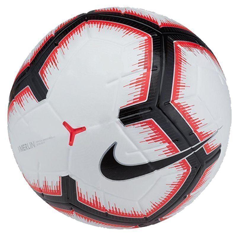 Картинка для Мяч футбольный Nike Merlin SC3303-100 р.5 матчевый, бел/крас/черн.