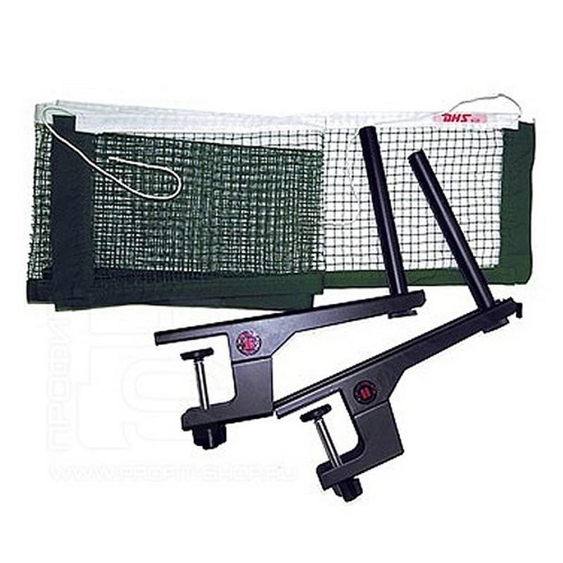 Сетка для настольного тенниса DHS P202 темно-зеленая сетка для настольного тенниса torres hobby tt5017