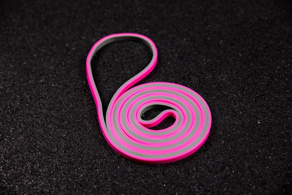 Купить Петля двухцветная YouSteel 6,4мм, серый+розовый,