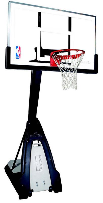 Баскетбольная стойка мобильная, стекло Spalding NBA The Beast Portable 60 quot; 74560CN spalding баскетбольная стойка spalding 2013 highlight 42 acrylic system