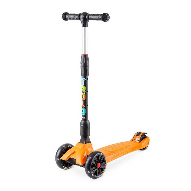 Купить Самокат Trolo Rapid со светящимися колесами Оранжевый 141605,