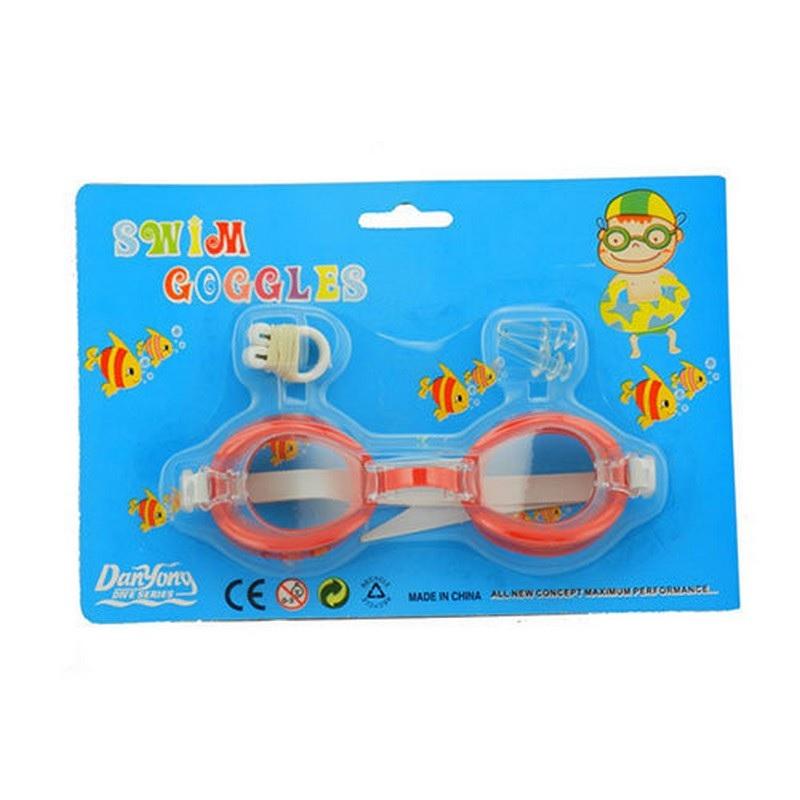 Очки для плавания + беруши + зажим для носа TX69406 зажим для носа комплект д плавания и беруши н024