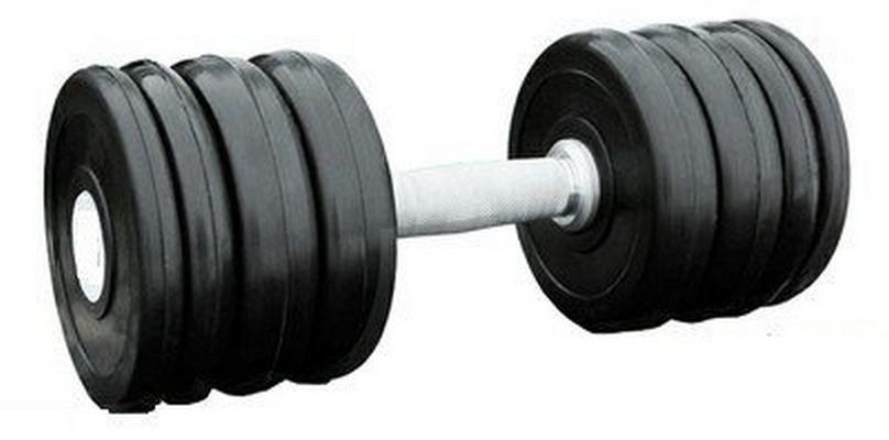 Купить Гантель профессиональная хром/резина 28 кг. Iron King IK 500-28,