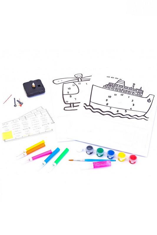 Набор для творчества Часы своими руками Bradex модель вертолет и корабль DE 0166
