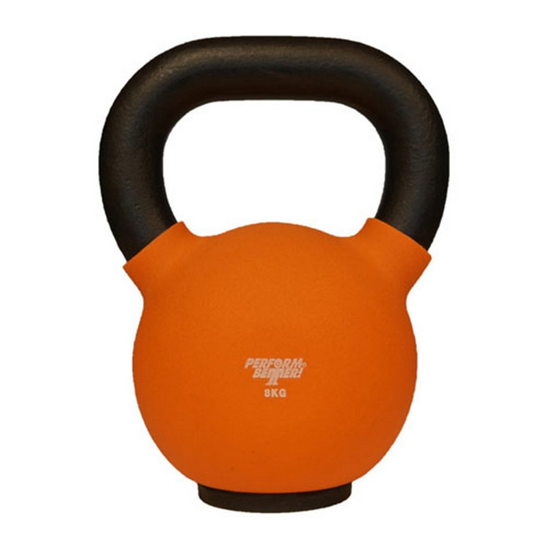 Обрезиненная гиря 8 кг Perform Better Neoprene Kettlebell 8934 оранжевый фото