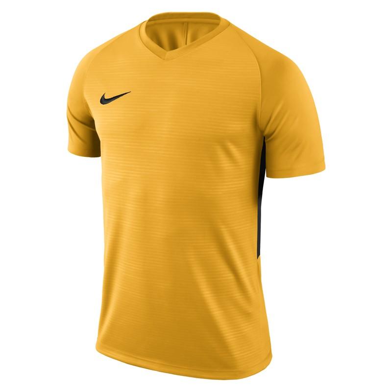 Футболка игровая Nike Dry Tiempo Prem Jsy Ss 894230-739 желтая очистители воздуха