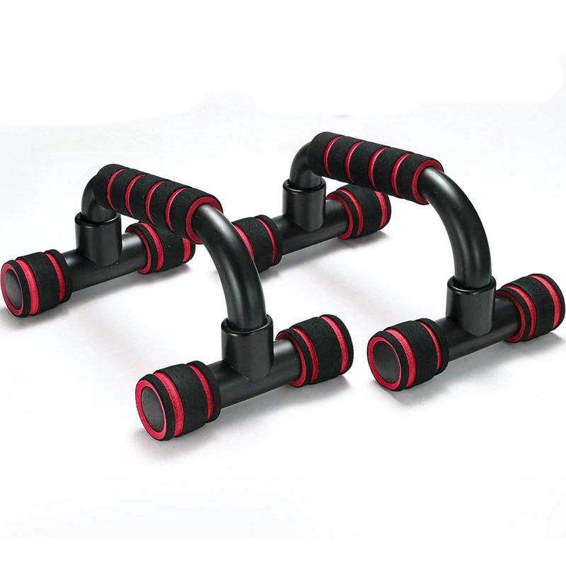 Купить Упоры для отжимания пластиковые с неопреновыми ручками (красный) B31280-2, NoBrand