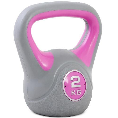 Купить Гиря пластиковая Start Up ЕСЕ 010 2 кг, серый/розовый,