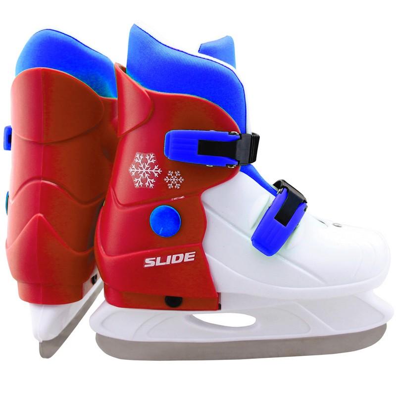 Купить Коньки ледовые раздвижные Larsen Slide red,