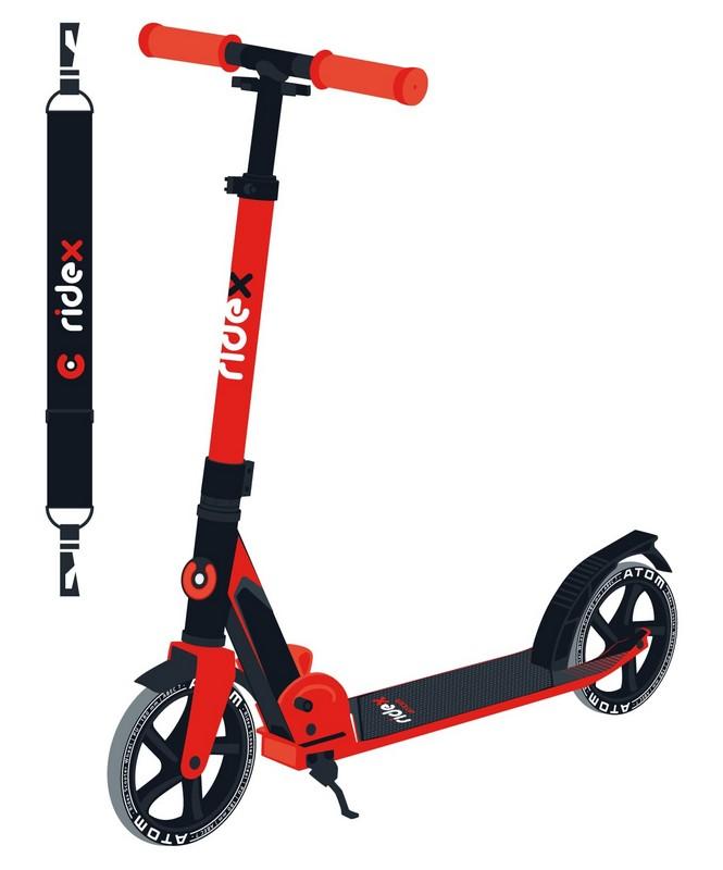 Купить Самокат 2-х колесный Ridex Atom 180 мм, красный,