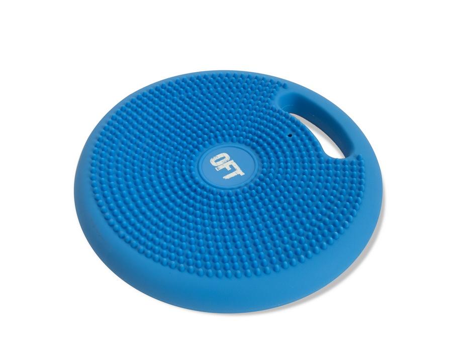 Массажно-балансировочная подушка с ручкой Original Fit.Tools синяя FT-BPDHL (BLUE)