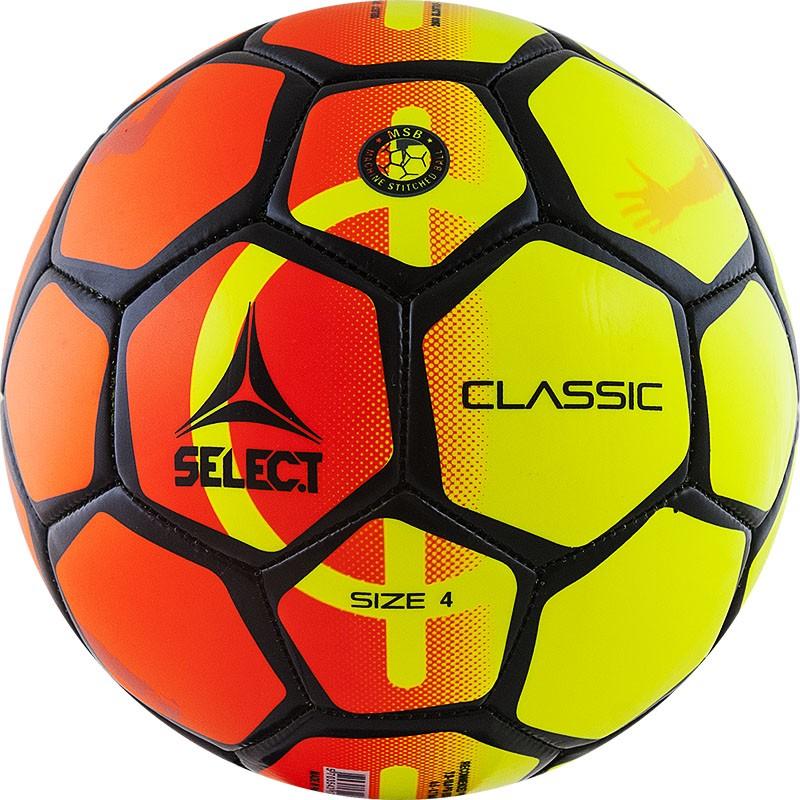 Мяч футбольный Select Classic (р.4) любительский 32 пан, жел/оранж/черн. мяч футзальный select futsal talento 11 852616 049 р 3