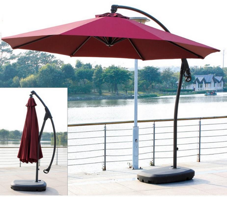 Зонт садовый на стальной подставке GardenWay A005 Бордовый