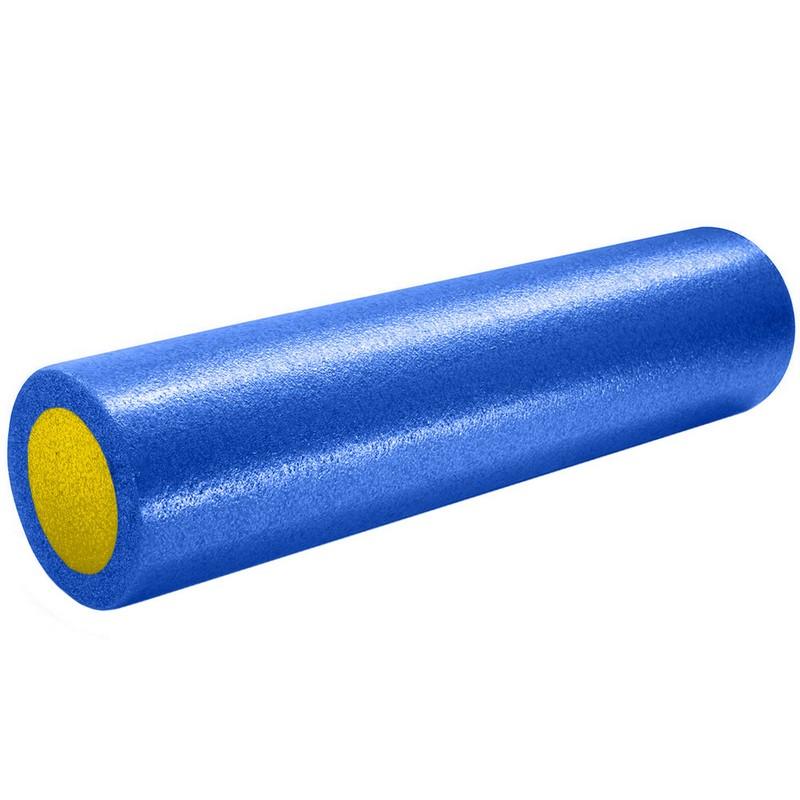Купить Ролик для йоги полнотелый 2-х цветный 60х15см B31512-1 синежелтый, NoBrand