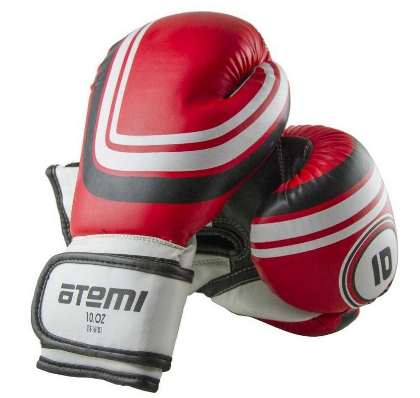 Перчатки боксерские Atemi 8 унций красный LTB-16101 перчатки снарядные atemi цвет черный красный размер l pbm 439