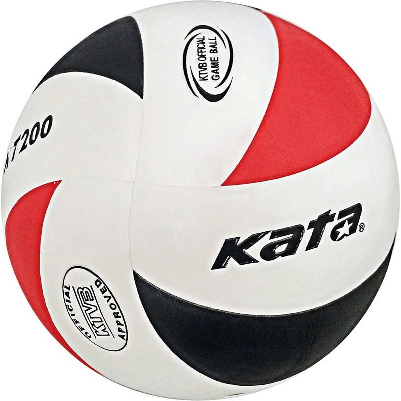 Мяч волейбольный Kata C33286 р.5 бело-черно-красный фото