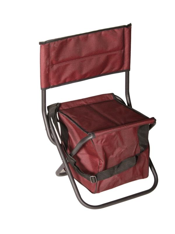 Стул туристический стальной(ножки замкнутые)со спинкой, с сумкой ФСИ 269