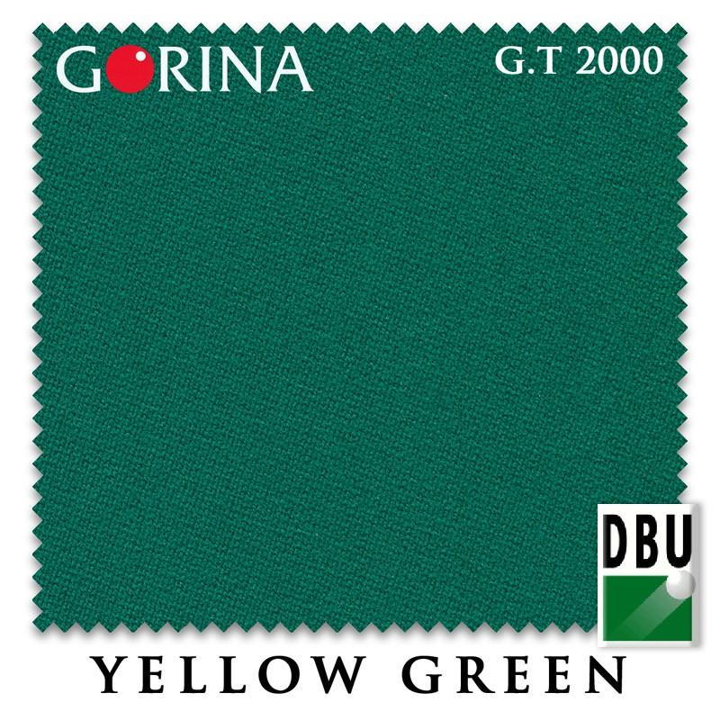 Сукно Gorina Granito Tournament 2000 Yellow Green 60М 197cm