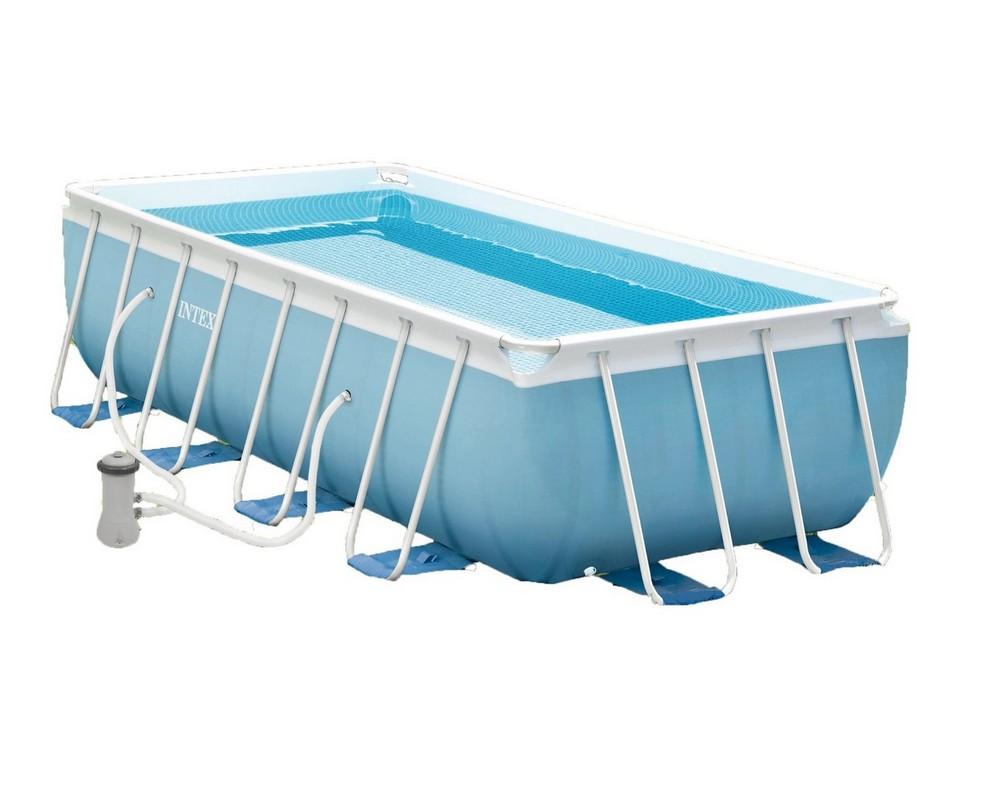 Бассейн на опорах 400х200х100 см Intex 28316 intex intex каркасный бассейн с металлическим ободком 366х76 см