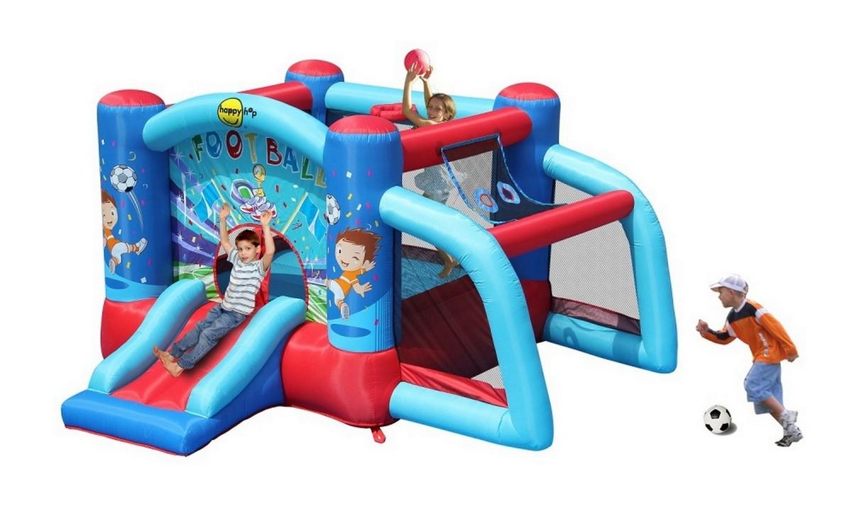 Детский надувной Батут Happy Hop Футбол 9187