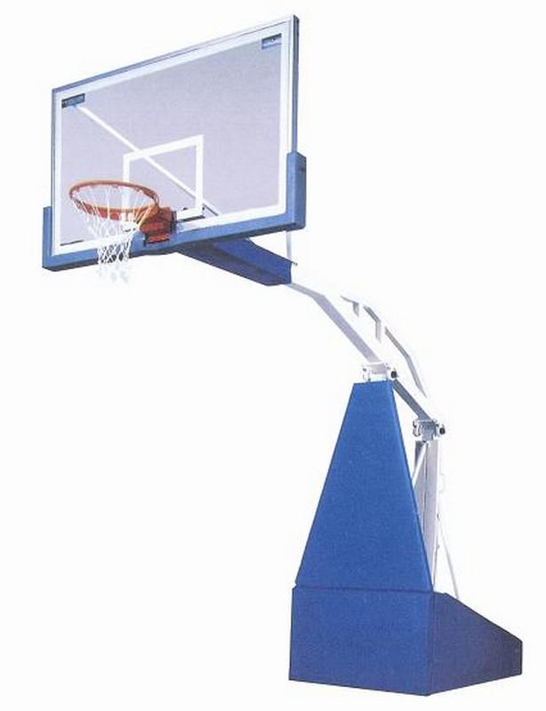 Стойка баскетбольная мобильная складная игровая, вынос 2,25 м М172 с противовесами