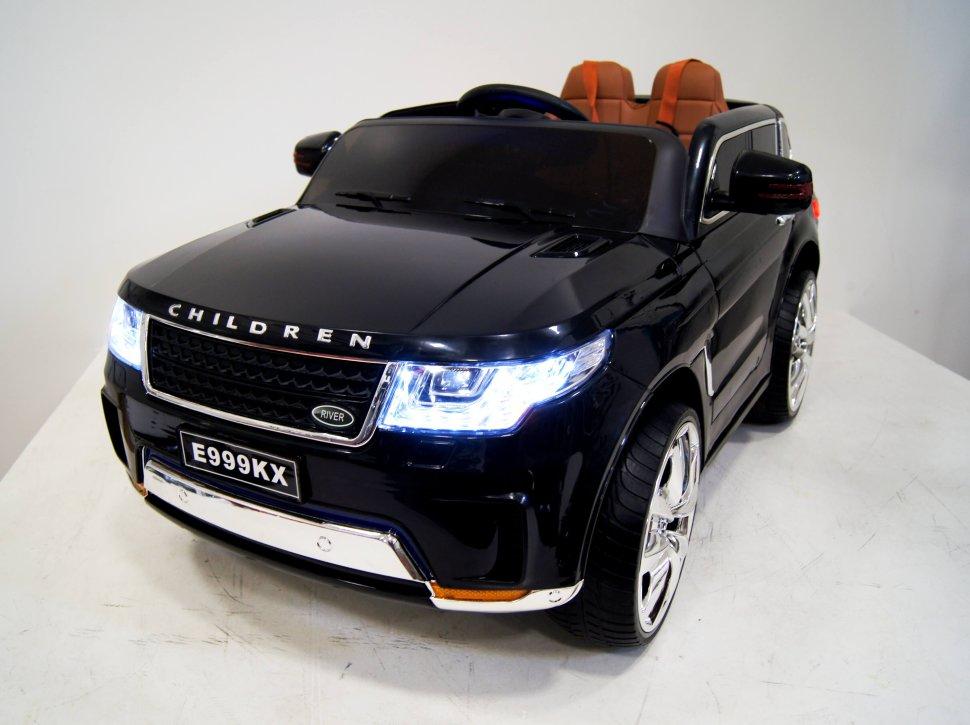 Детский электромобиль River-Toys Range Rover Sport E999KX черный с ДУ